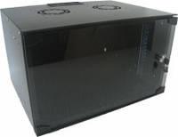 Hypernet GD-WMNC-12U-FLAT-black Шкаф коммутационный настенный 12U 600x400 Soho Line стекл.дверь черный Hypernet GD-WMNC-12U-FLAT-black