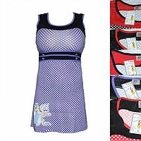 Женская котоновая ночная рубашка QT48 оптом со склада на 7км.