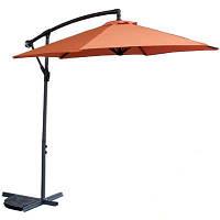 Зонт садовый терракотовый, для дачи, кемпинга, приусадебного участка, крестовидная база, высота регулируется
