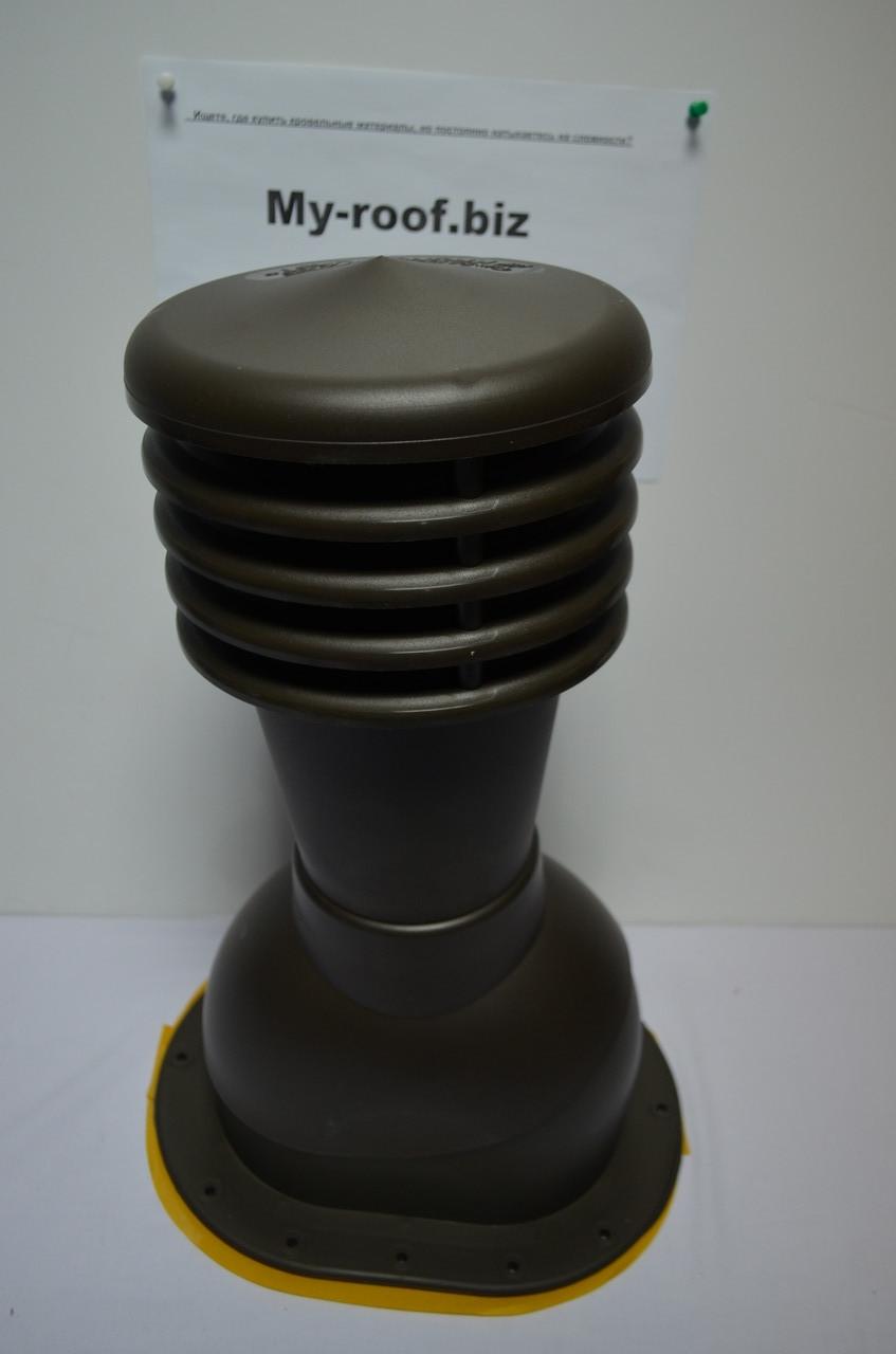 Вентиляционные и кровельные выходы KRONO-PLAST KPI 1-1, Ø125, RAL 8017 коричневый для битумной черепицы
