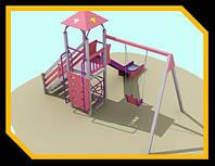 """Детская площадка """"Башня с качелей"""""""