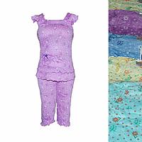 BTD18. Женская котоновая пижама оптом со склада на 7км.