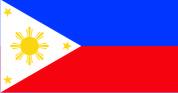 Флажок Филиппин, 10х20см