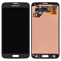 Дисплей для Samsung Galaxy S5 G900, модуль в сборе (экран и сенсор), черный, оригинал