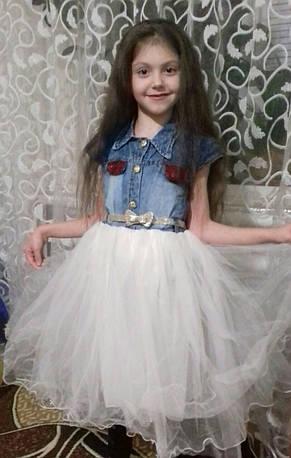 Платье нарядное для девочек 5-6-7-8 лет Flaviano , фото 2