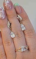 Набор из серебра с золотыми пластинами №100н