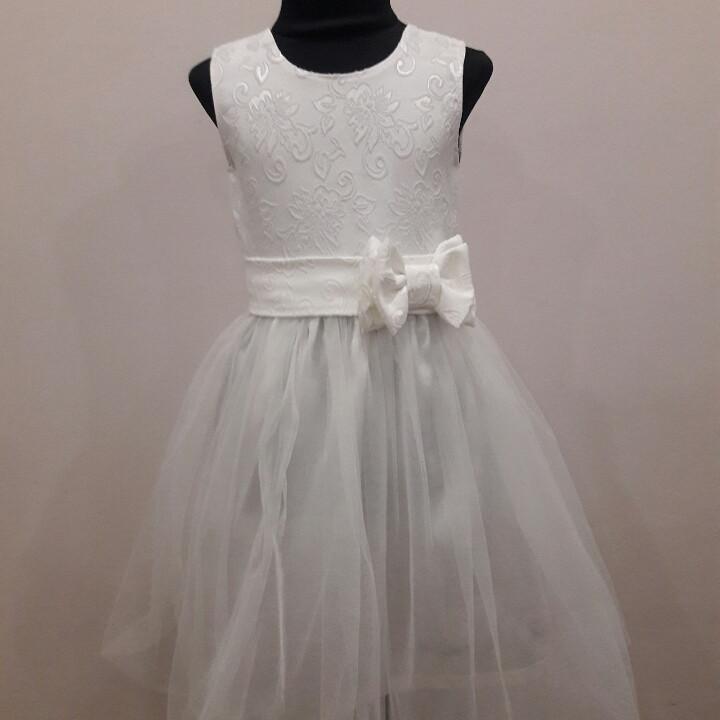 """Детское нарядное розовое  платье """"Нежность"""" 98-116."""