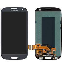 Дисплейный модуль (экран) для Samsung Galaxy S3 i9300, i9300i, i9301, i9305, синий, оригинал