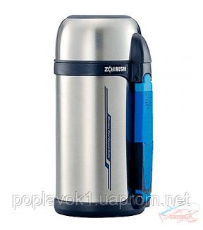 Термос ZOJIRUSHI SF-CC15XA  1.5 л.(Складна ручка + Ремінець) к.Сталевий
