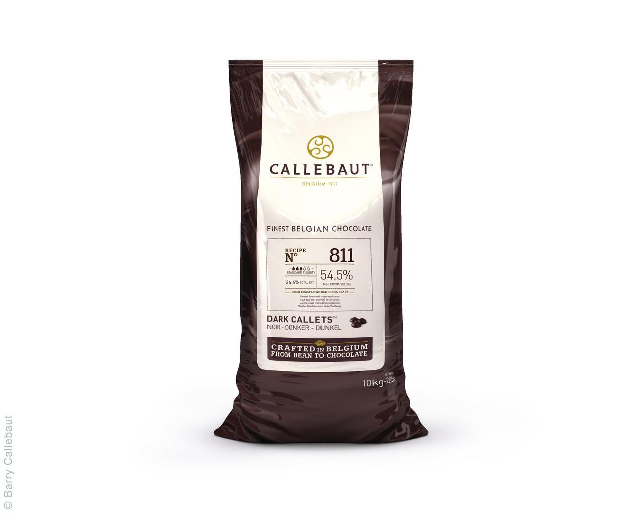 Черный шоколад 54,5 % какао 10 кг (811), Callebaut