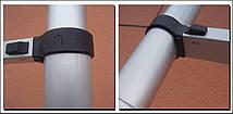 Лестница телескопическая алюминий 3.8 м + стабилизатор, фото 3