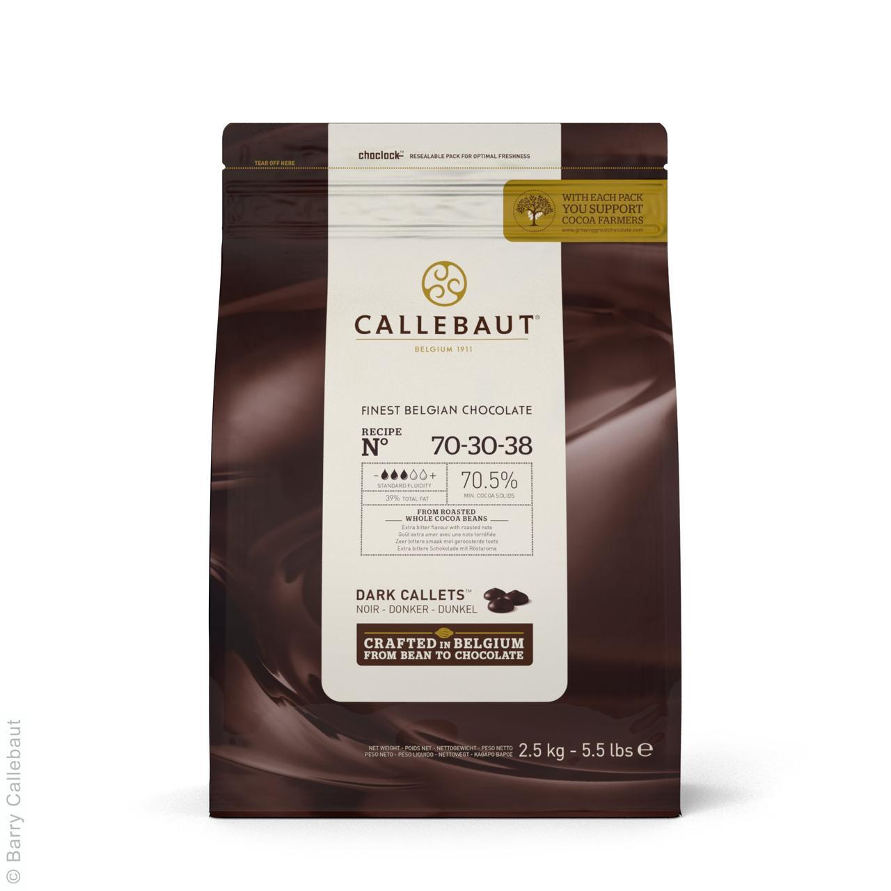"""Черный шоколад """"Экстра горький"""" 70,5 % какао 2,5 кг, Callebaut"""