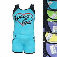 Женская котоновая пижама с шортами QT54 оптом со склада на 7км.