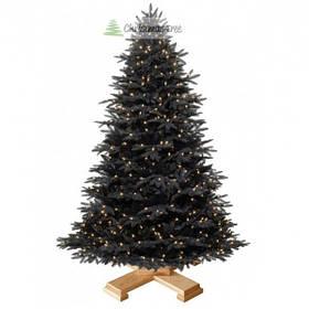 """Елка """"Черная"""" на деревянной подставке 225 + гирлянда в подарок"""