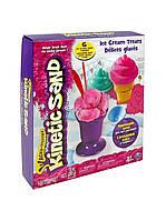 Набор песка для детского творчества - KINETIC SAND ICE CREAM (розовый, формочки, 283 г)  71417-1
