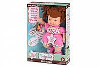 Кукла-пупс поет и разговаривает Baby's First Little Talker брюнетка, интерактивная кукла, 33 см