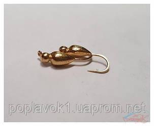 Мормышка вольфрам. Жук (золото) 0,45г.