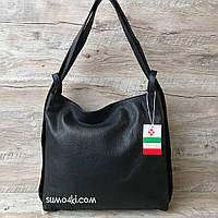 Стильная Итальянская кожаная сумка-рюкзак Vezze