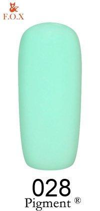 Гель-лак F.O.X Pigment 028 (магическая мята, глянец), 6 ml