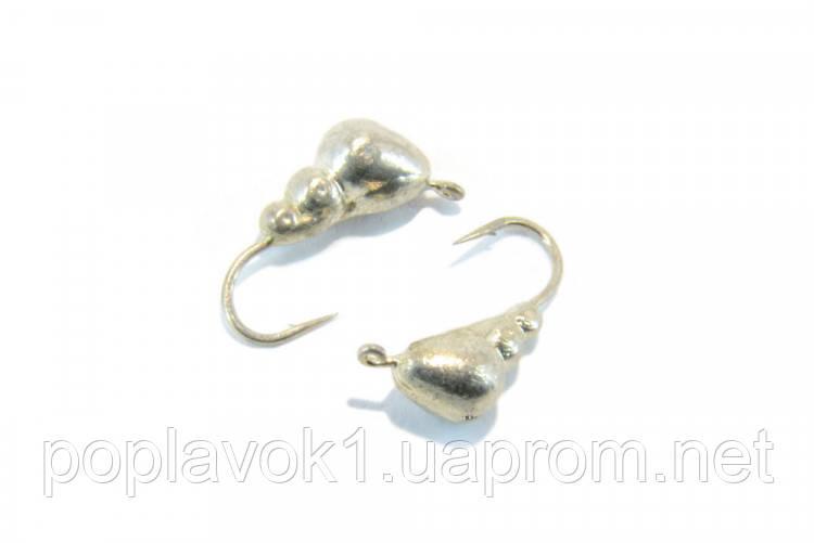 Мормышка вольфрам Муравей (серебро) 3мм