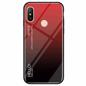 TPU+Glass чохол Gradient HELLO для Xiaomi Redmi Note Pro 6