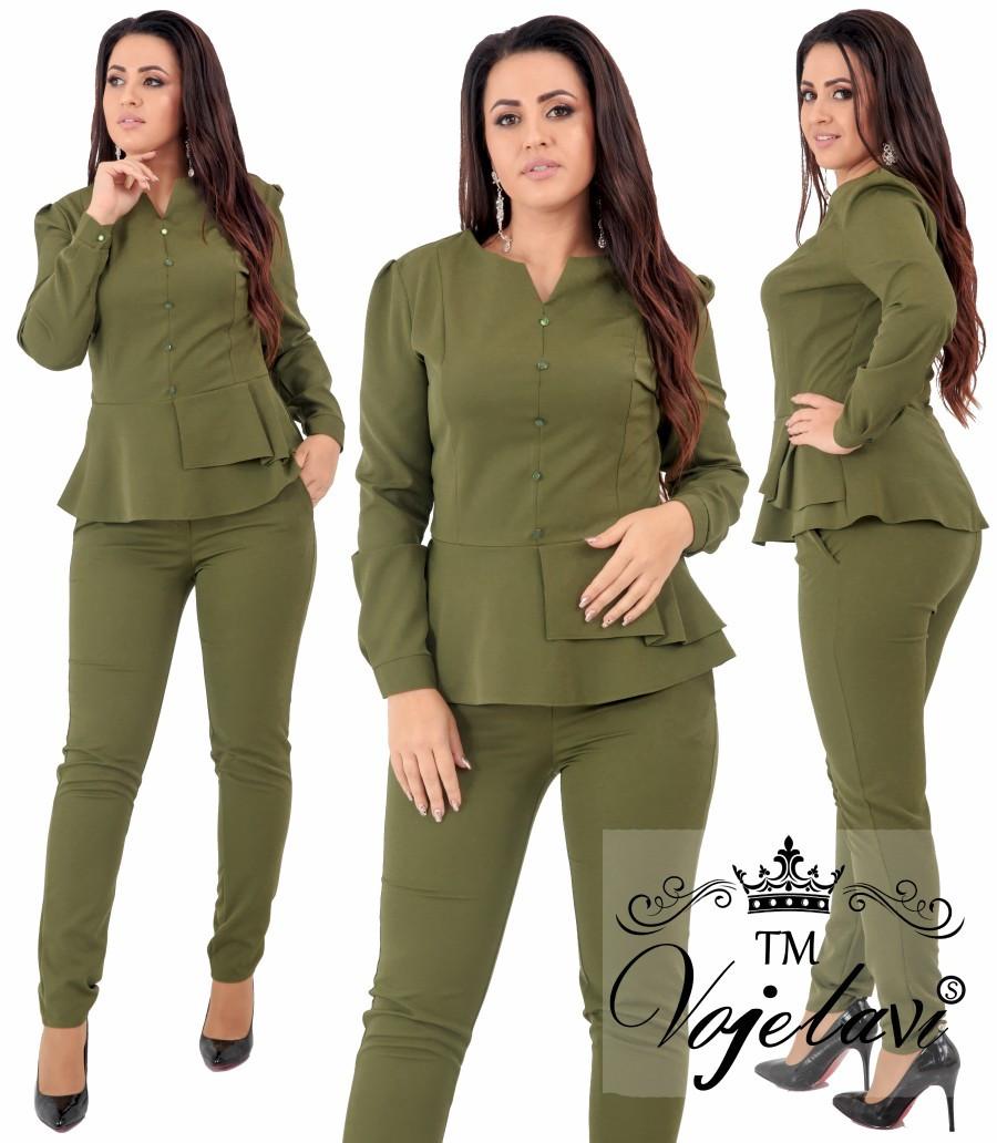 9146dbc1795 Женский элегантный костюм блузка с брюками 1642G оптом и в розницу ...