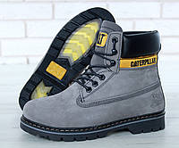 Женские ботинки Caterpillar Winter Boots c мехом (grey), фото 1