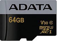 AData Premier Pro microSDXC/SDHC UHS-I U3 Class 10 (V30G)[AUSDX64GUI3V30G-RA1]