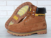 Женские ботинки Caterpillar Winter Boots c мехом (brown)