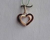 """Золота підвіска """"Серце"""""""