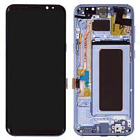 Дисплейный модуль (экран) для Samsung Galaxy S8 Plus G955, с рамкой, голубой, оригинал #GH97-20564D