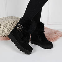 Зимние ботинки. опушка кролик натуральная замша 36 размер b6e7a77484f0c