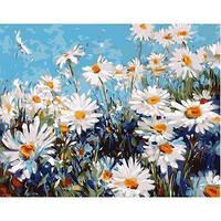 """Картина по номерам Цветы """"Лесные ромашки"""" KHO2918"""