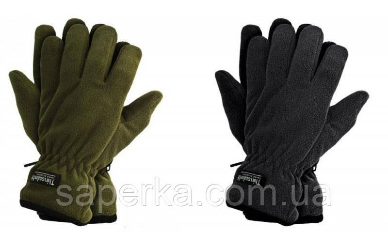 Перчатки мужские флисовые Thinsulate 40 gram, Олива (Тинсулейт)