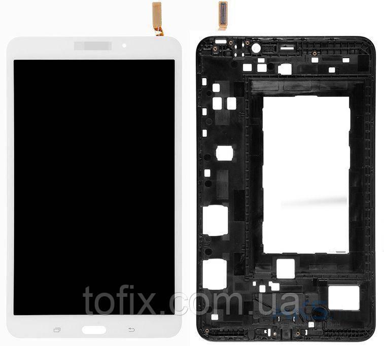 """Дисплей для Samsung T330 Tab 4 8.0"""", Wi-Fi, модуль в зборі (екран і сенсор), з рамкою, белый, оригінал"""