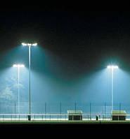 Освещение теннисных кортов.