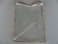 Упаковка для постельного белья на змейке объемная №3 (370х270х30мм) ПВХ 90