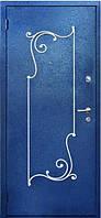 Двери входные металлические с ковкой