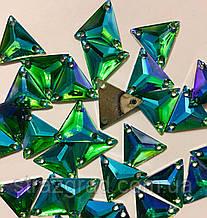 16мм. Трикутники пришивні З/С. Green AB