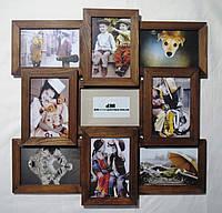 Деревянная эко мультирамка, коллаж #409 орех, венге, белый, чёрный., фото 1