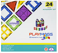 Конструктор Playmags магнитный набор 24 эл. PM162, фото 1