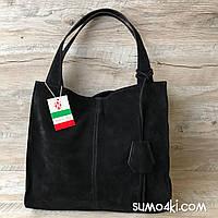 Итальянская замшевая сумочка Vera Pelle