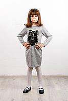 Платье детское Софи сова №4 серый, фото 1