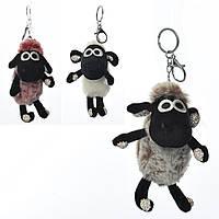 Аксессуар для сумки X14463 (60шт) овечка, брелок, 22см, мех, стразы,в кульке, 4 цвета, упаковка 10шт
