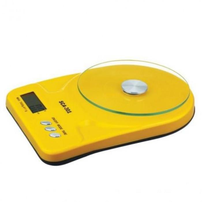 Кухонные Электронные Весы SСА 301 7 кг Жёлтые