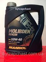 Полусинтетическое моторное масло Mannol Molibden Benzin 10W40 4L