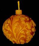 """Новогодняя восковая свеча """"Ёлочная игрушка"""" из натурального пчелиного воска, фото 4"""