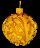 """Новогодняя восковая свеча """"Ёлочная игрушка"""" из натурального пчелиного воска, фото 2"""