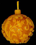"""Новогодняя восковая свеча """"Ёлочная игрушка"""" из натурального пчелиного воска, фото 5"""