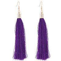 Сережки кисті фіолетові